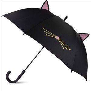 KATE SPADE black pop-up ears cat umbrella NWT